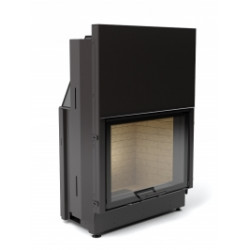 Каминная топка АСТОВ ПС 8057 - Топка подовая с прямым стеклом и подъемным механизмом дверцы.