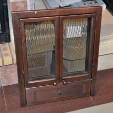 Дверца каминная 2-стрвор. 9132 с/стеклом, 43х59, медь (Aito)