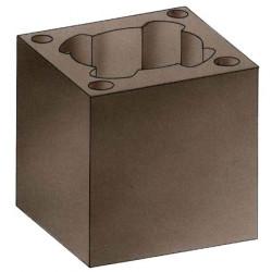 Бетонный блок, 40х40, H24 (Hart)